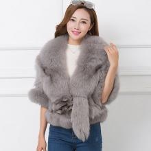2016秋冬新款促销整皮进口狐狸毛腿毛短款皮草外套披肩修身显瘦女