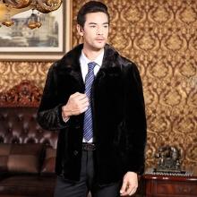 海宁男士皮草新款男士皮草水貂外套海宁貂皮大衣男装优质貂皮