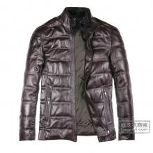 新款真皮羽绒服绵羊皮立领羽绒服海宁绵羊皮皮衣外套